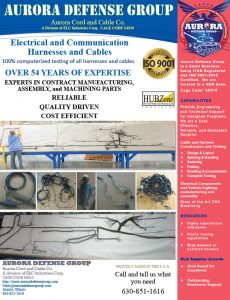 Aurora Defense Group - Electrical and Communication Harnesses and Cables Sell Sheet