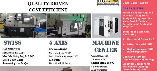 Aurora Defense Group - Precision CNC Machining Sell Sheet